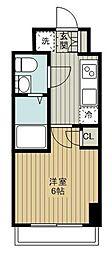 東急東横線 妙蓮寺駅 徒歩11分の賃貸マンション 1階1Kの間取り