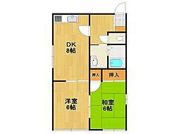 クレール恵彩[2階]の間取り