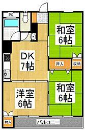 蓮見マンション[4階]の間取り
