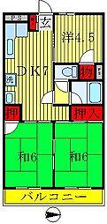 コーポヒロ[302号室]の間取り
