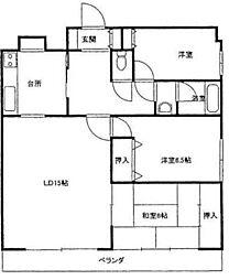 ライオンズマンション茅ヶ崎第三[5階]の間取り