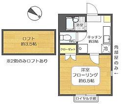 ピュアボナール新堀[1階]の間取り