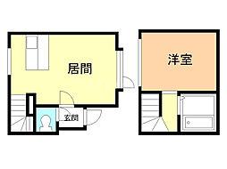 ソルドムス文京台弐番館 1階1LDKの間取り