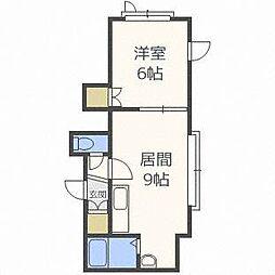 ノースビュー35[2階]の間取り