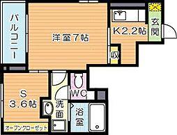 エスポワールA[1階]の間取り