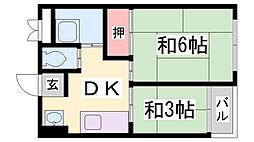 西元町ビル[4階]の間取り