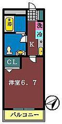 仮称)南初富4丁目AP[206号室]の間取り