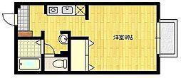 JR長崎本線 佐賀駅 バス8分 西田代下車 徒歩4分の賃貸アパート 1階1Kの間取り