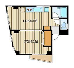 東京都豊島区池袋2丁目の賃貸マンションの間取り
