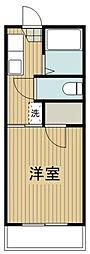 神奈川県大和市南林間4丁目の賃貸アパートの間取り