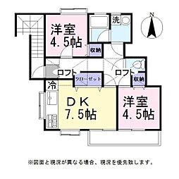 バレーハウス[2階]の間取り