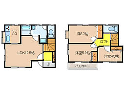 宮町テラスハウス[2階]の間取り