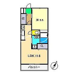 アクセスコート[4階]の間取り
