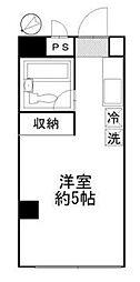 ピース多摩川[2階]の間取り