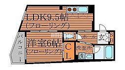 東京都中野区中央5丁目の賃貸マンションの間取り