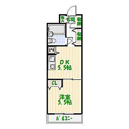 ライオンズマンション西新井第5[106号室]の間取り