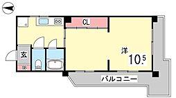 ラペ本山[203号室]の間取り