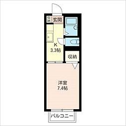 HODAKA Canal 16[102号室]の間取り