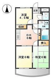 EVE下中野[4階]の間取り