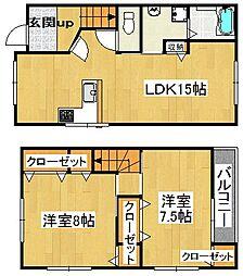 ソレアード御供田1号館[2階]の間取り