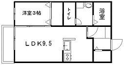 コンフォール松山[103号室]の間取り