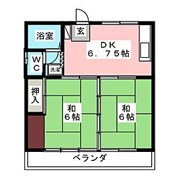 渡辺アパート[2階]の間取り