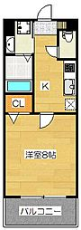 S-FORT福岡県庁前[2階]の間取り