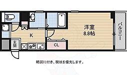 南海高野線 白鷺駅 徒歩1分の賃貸マンション 4階1Kの間取り