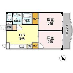MATE KITAKASAI[202号室]の間取り