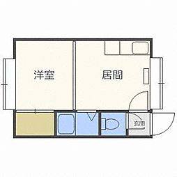 サンコート栄通13A棟[2階]の間取り