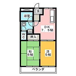 コンフォールT[2階]の間取り
