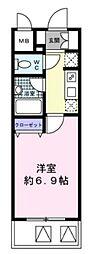 JR山手線 新橋駅 徒歩4分の賃貸マンション 14階1Kの間取り