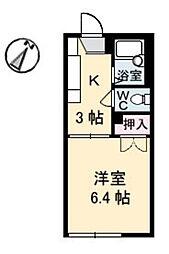 カーサ大成[1階]の間取り