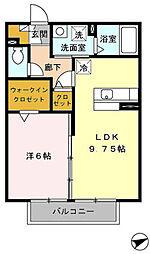 ヴィラシャルマンB棟[2階]の間取り