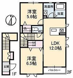 仮)ガーデンズK A棟[203号室]の間取り