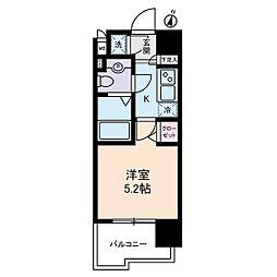 ヴェルステージ川崎[7階]の間取り