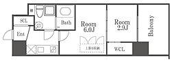 セレニテ福島シェルト 6階2Kの間取り