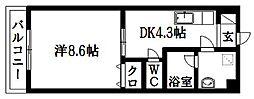 バートハイム伊藤II[302号室]の間取り