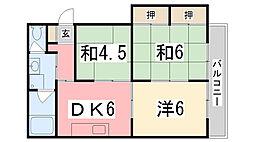 野田中村コーポ[303号室]の間取り