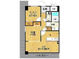 メイプルコート宝塚[4階]の間取り