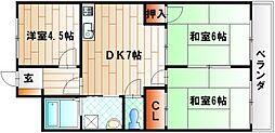 シャトレ吉野町[4階]の間取り