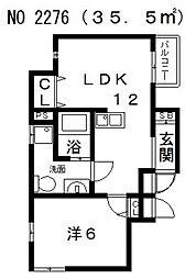 カラーズ帝塚山東[4階]の間取り