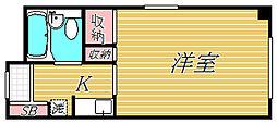 綱島グリーンハイツ[1階]の間取り