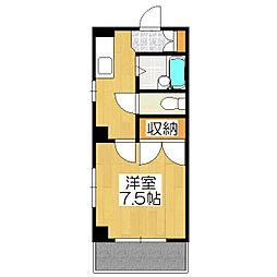 コーポサンプラザ[6階]の間取り