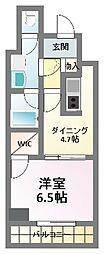 クレアートアドバンス北大阪[12階]の間取り