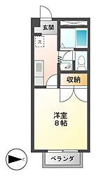 ラビットストリートII[1階]の間取り