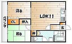 ハイツ岡部24[1階]の間取り