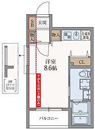 兵庫県神戸市中央区下山手通9丁目の賃貸マンションの間取り