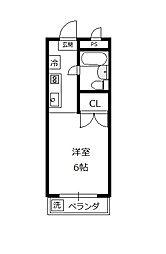 サンアベニュー増島[1階]の間取り