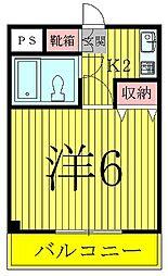 ブランシュ天王台[2階]の間取り